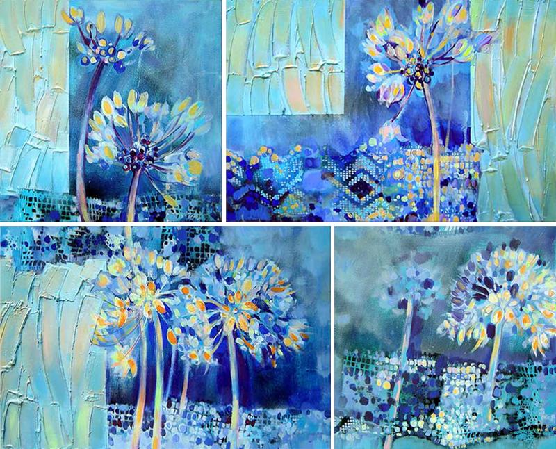 Blaue Taglilien